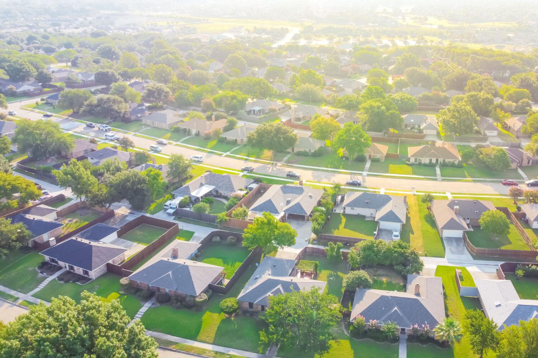 Photo description: Aerial view of neighborhood.