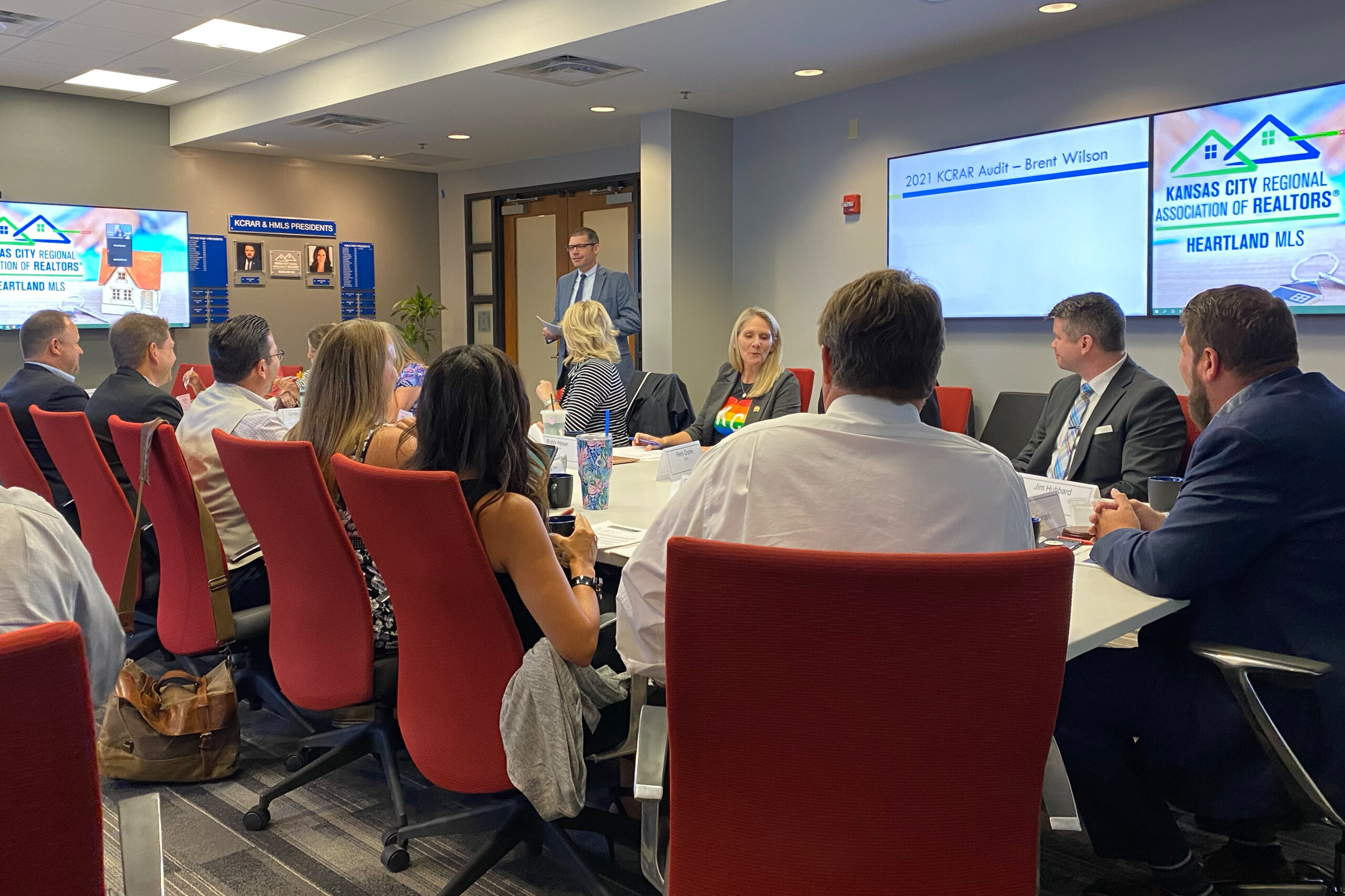 Photo description: KCRAR Board of Directors meeting in KCRAR Board Room.